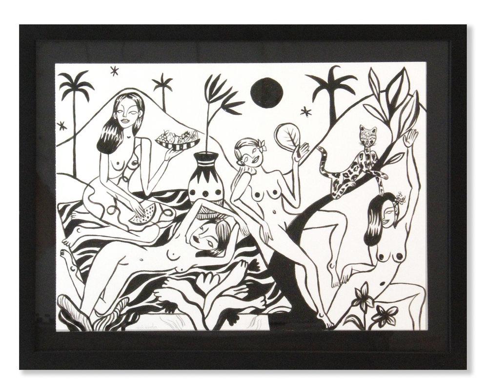 Can Olas   Tinta negra sobre papel 49 x 38,2 cm