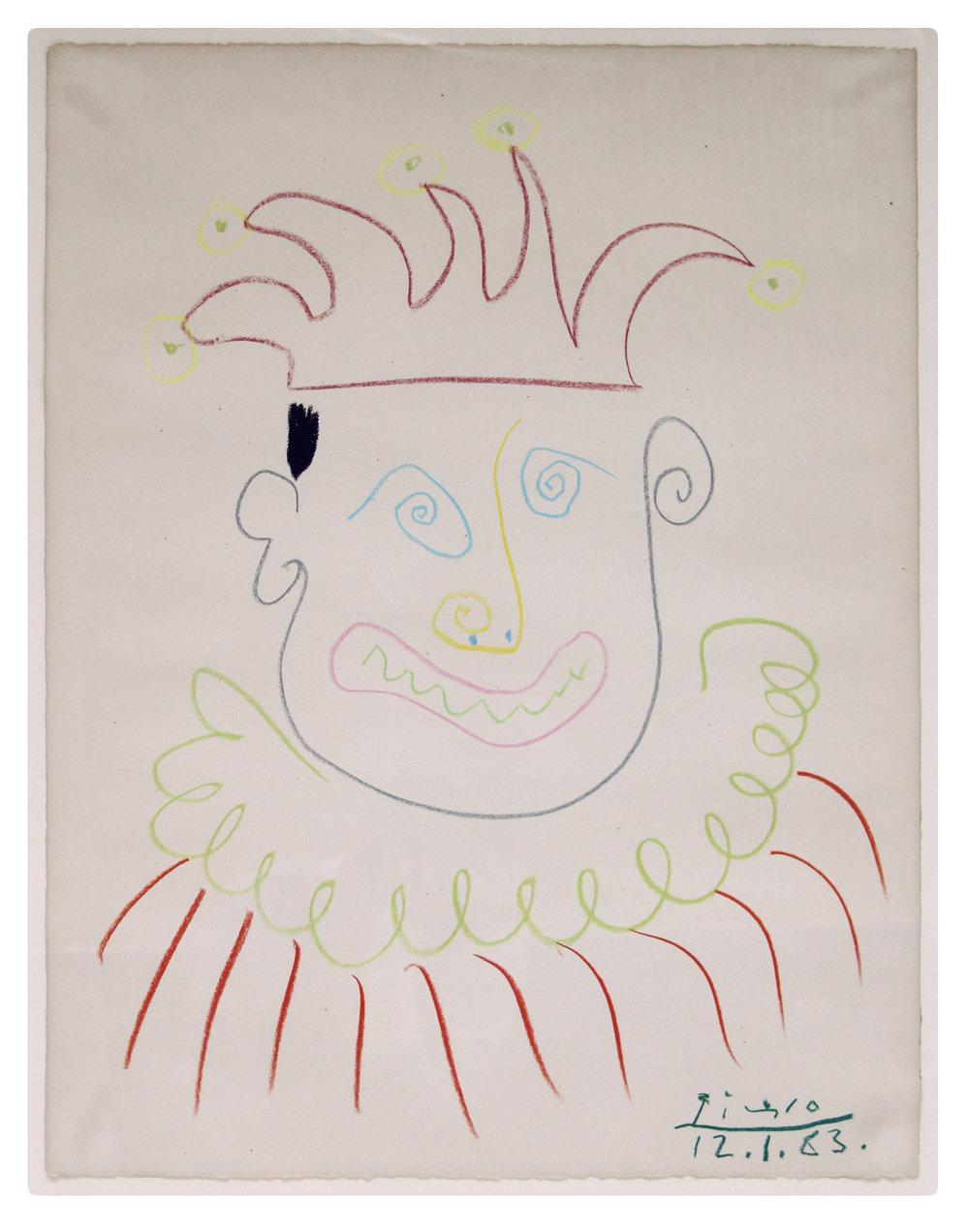 Carnival   ,  1963 Cera sobre papel 65,5 x 50,5 cm