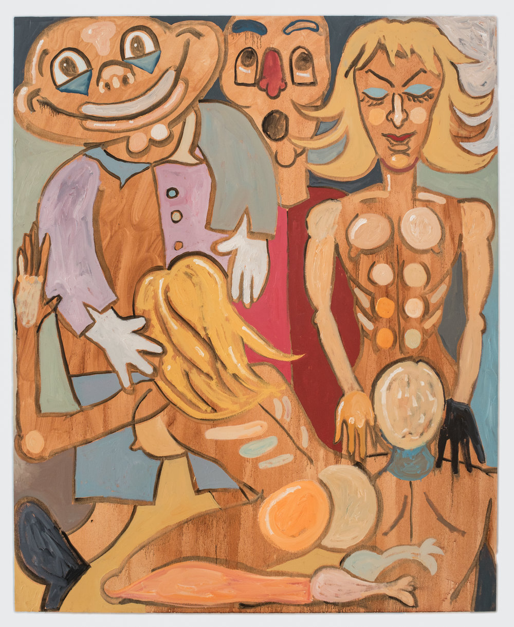 Pleasure Pen (Blondes Have More Fun),   2018   Óleo sobre lienzo 183 x 147 cm