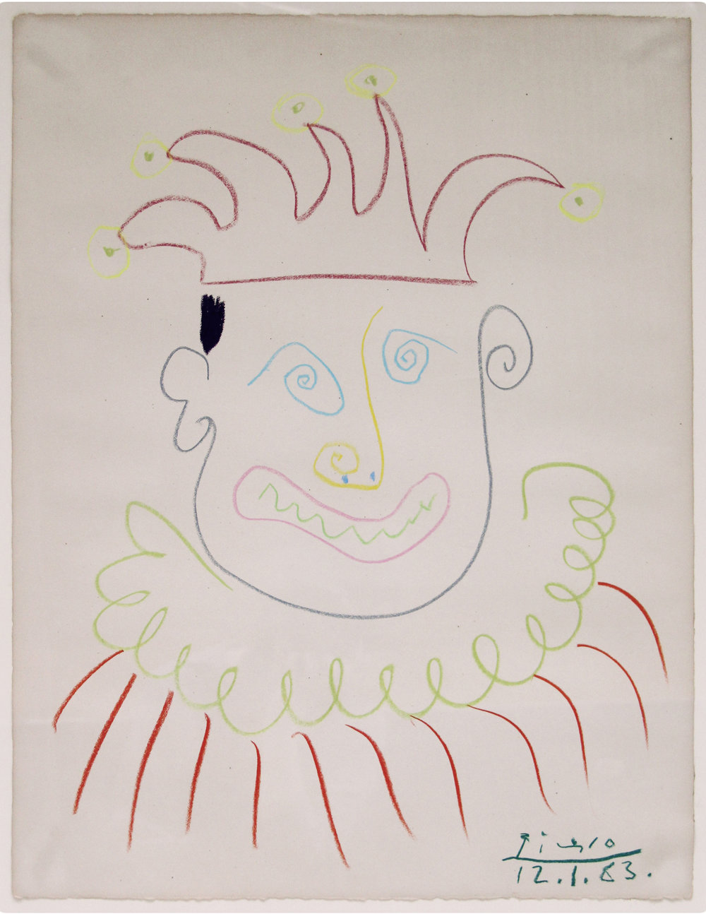 Carnival,   Picasso,   1963 Crayon on paper 65,5 x 50,5 cm