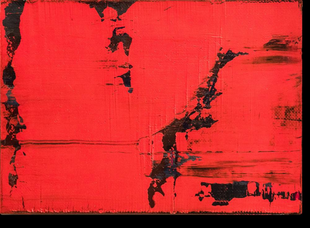 Abstraktes Bild  , 1988  Oleo sobre lienzo y madera  21 x 29,5 cm   VENDIDO