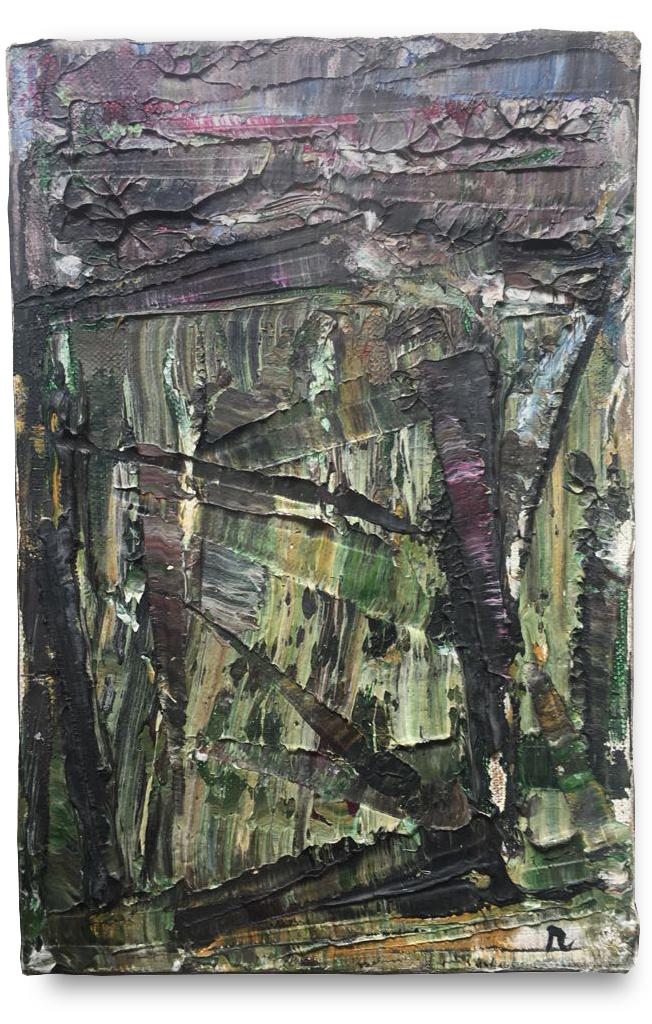 Nouvelles impressions No 89  , 1977  Oil on canvas  24 x 16,5 cm.