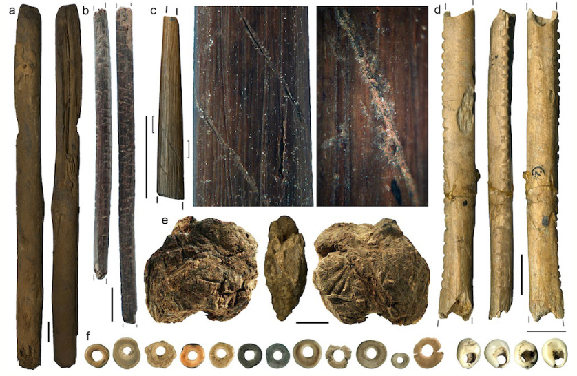 Simple tools and beads created by oyster consuming early Homo Sapiens of Southern Africa.