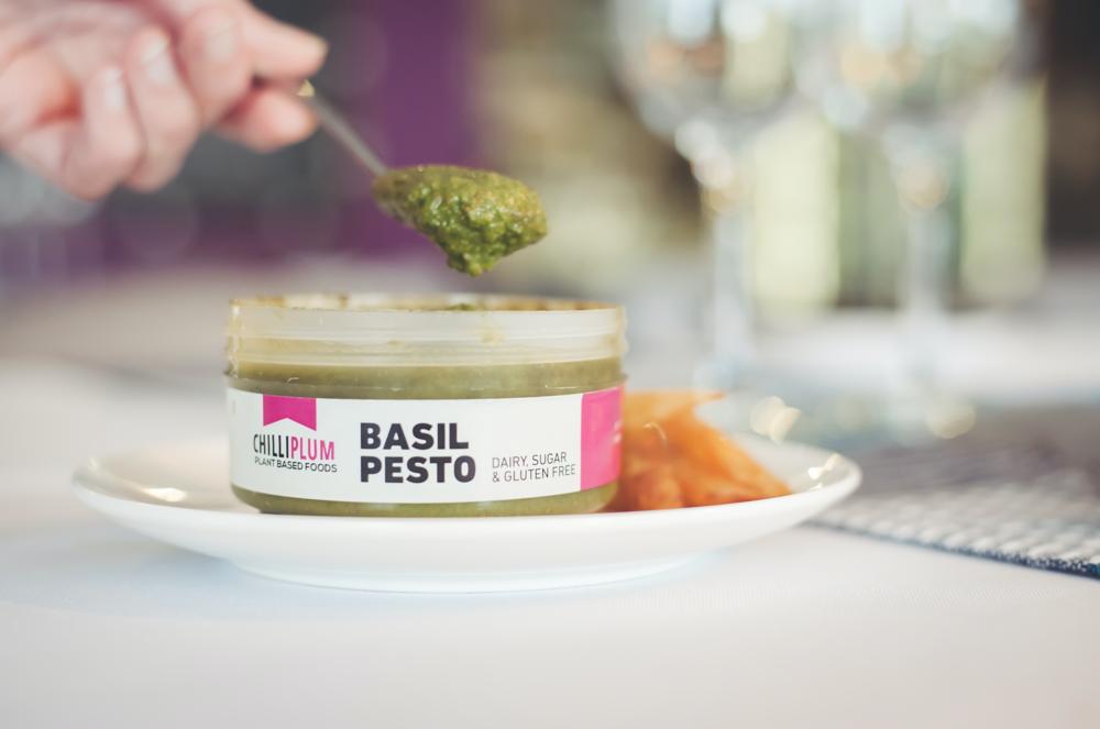 basil pesto in the pantry