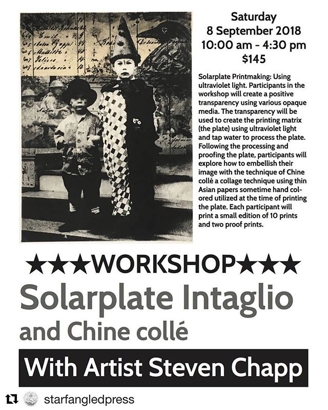 Class time! @steven.chapp is teaching a Solarplate workshop at Starfangled Press in Brevard, NC on Saturday, September 8th! Sign up now to learn all about this non-toxic intaglio process via the @starfangledpress website at www.starfangledpress.com/classes ... #Repost @starfangledpress ・・・ #yeahthatgreenville #printmaking #intaglio #solar #contemporaryprintcollective