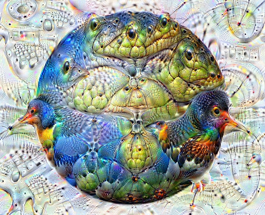 Deep dream of Globe showing Europe and Africa (🌍) (level 2)