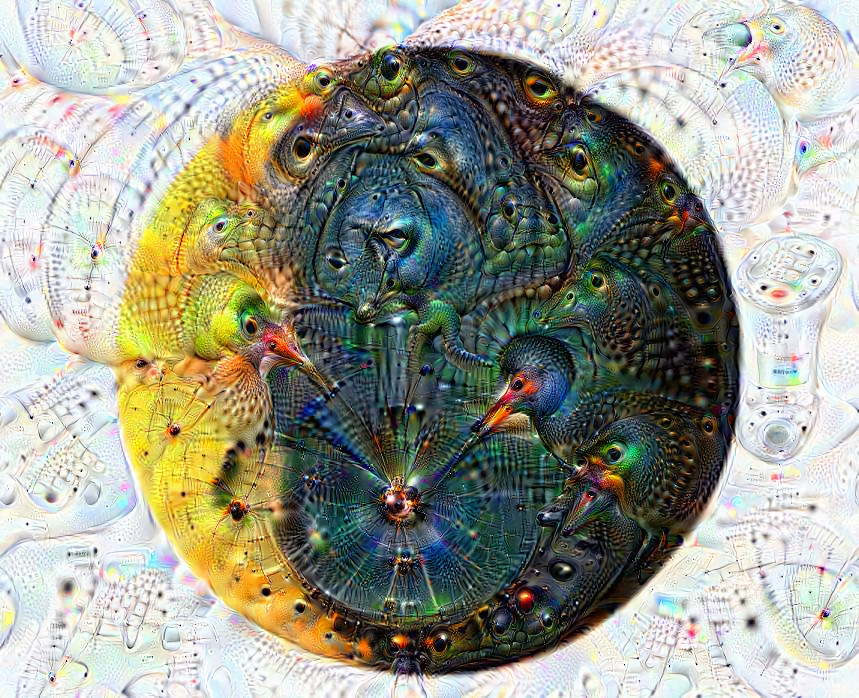 Deep dream of Waning crescent moon (🌘) (level 1)