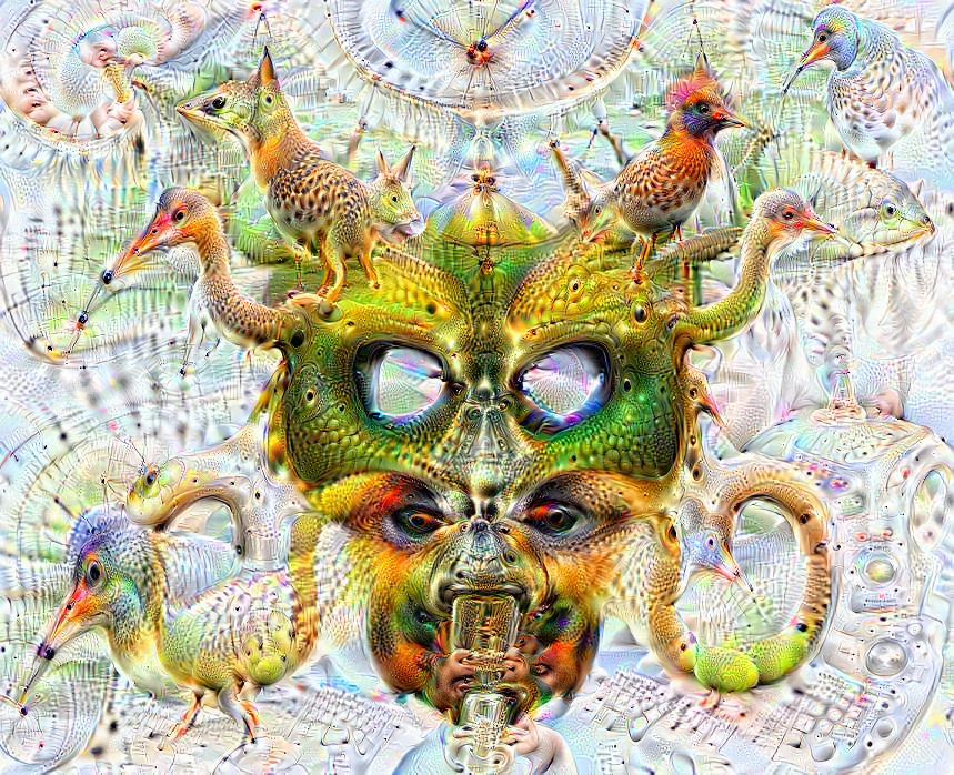 Deep dream of Dragon head (🐲) (level 2)
