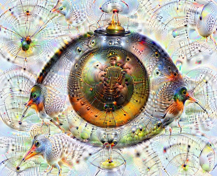Deep dream of Eye (👁) (level 2)
