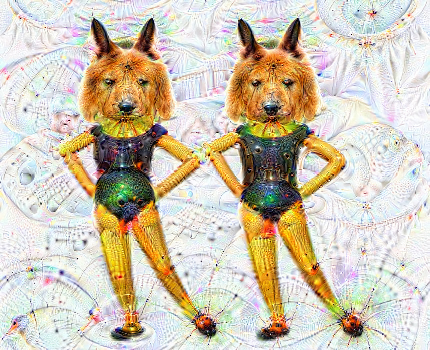 Deep dream of Dancing women wearing bunny ears (👯‍♀️) (level 0)