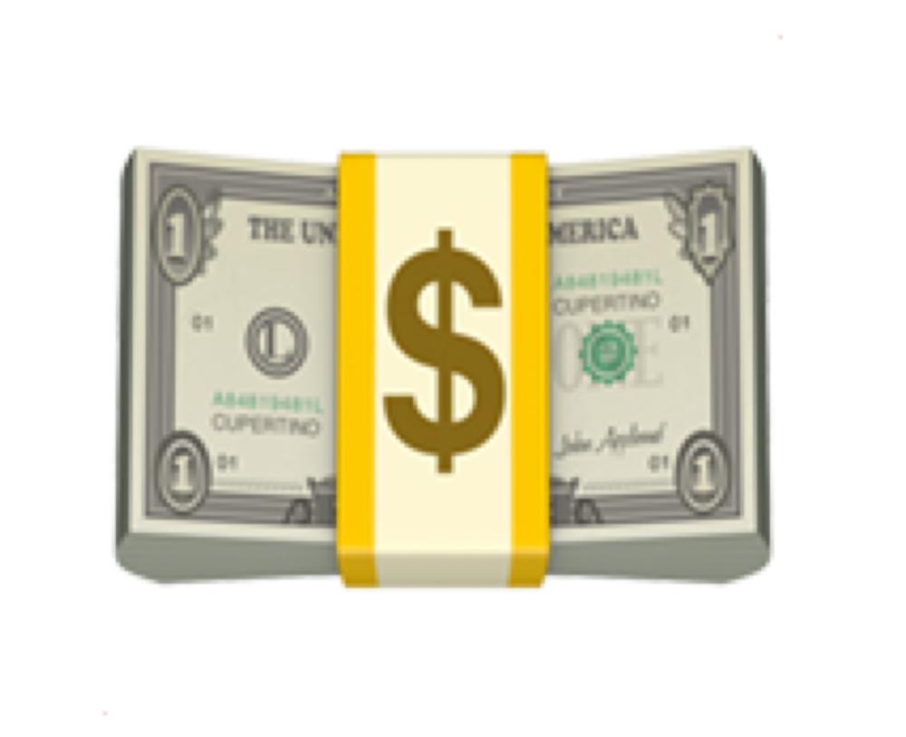 Dollar banknotes (💵)