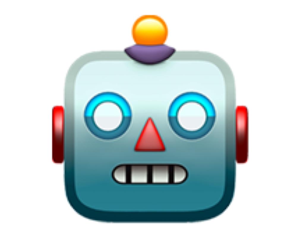 Robot face (🤖)
