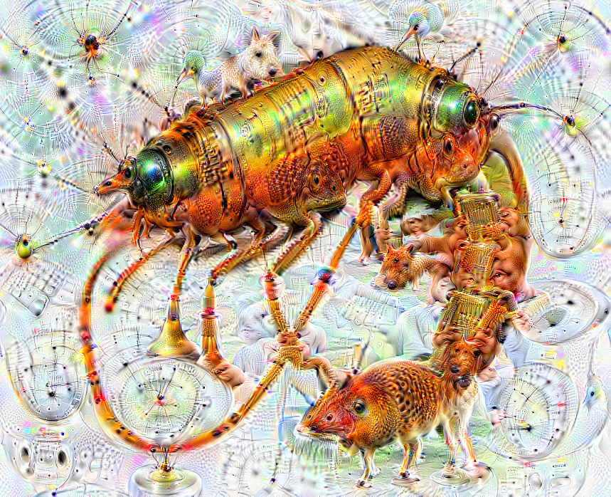 Deep dream of Shrimp (🦐) (level 2)