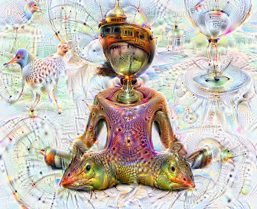 Deep dream of Woman in Lotus position (🧘🏽‍♀️) (level 1)
