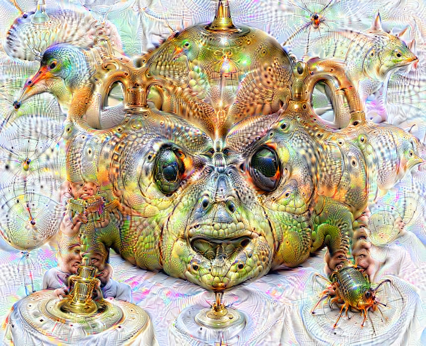 Deep dream of Hear-no-evil monkey (🙉) (level 2)