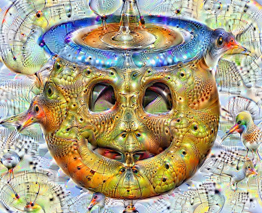 Deep dream of Smiling face with halo (😇)(level 3)
