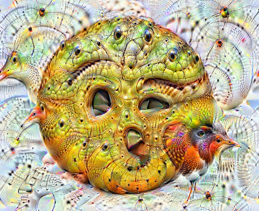 Deep dream of Face blowing a kiss (😘)(level 2)