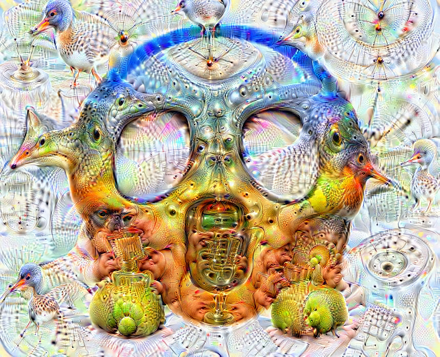 Deep dream of Face screaming in fear (😱) (level 2)