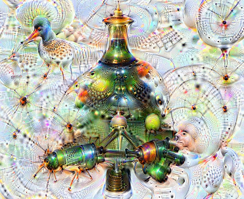 Deep dream of Christmas tree (🎄) (level 2)