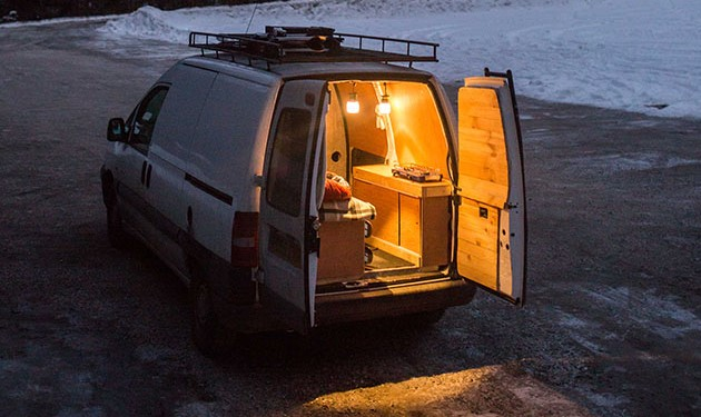 Living out a van means you'll need to keep things compact and cosy! Photo: Clement Hodgkinson