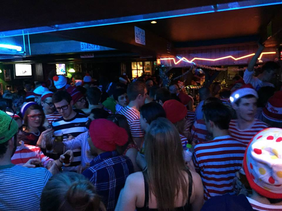 It's not just mountain meals on the menu at Milwaukee, it's also a great party venue. Here we can spy a classic student theme, Where's Wally ©Facebook