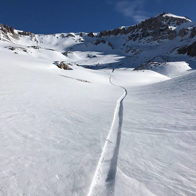 Dreaming of fresh tracks in the backcountry... - - - - - #SkiChile #ValleNevado #Line #Freshtracks #Explore #Adventure