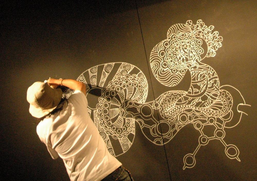 Live painting+Music Performance3/2/19 19:00~ - by Mario mandala & Justin Simon