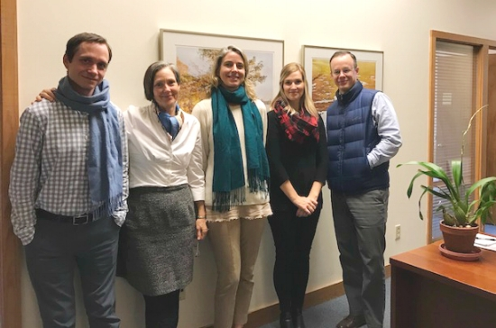 SELC staff members wear layers on chilly days so they can use energy-saving settings on their thermostats.