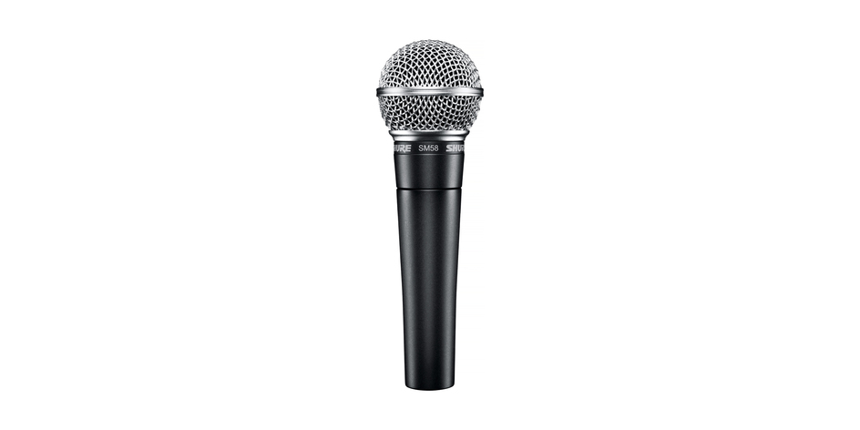Shure SM58 stage mic w/ stand - $25