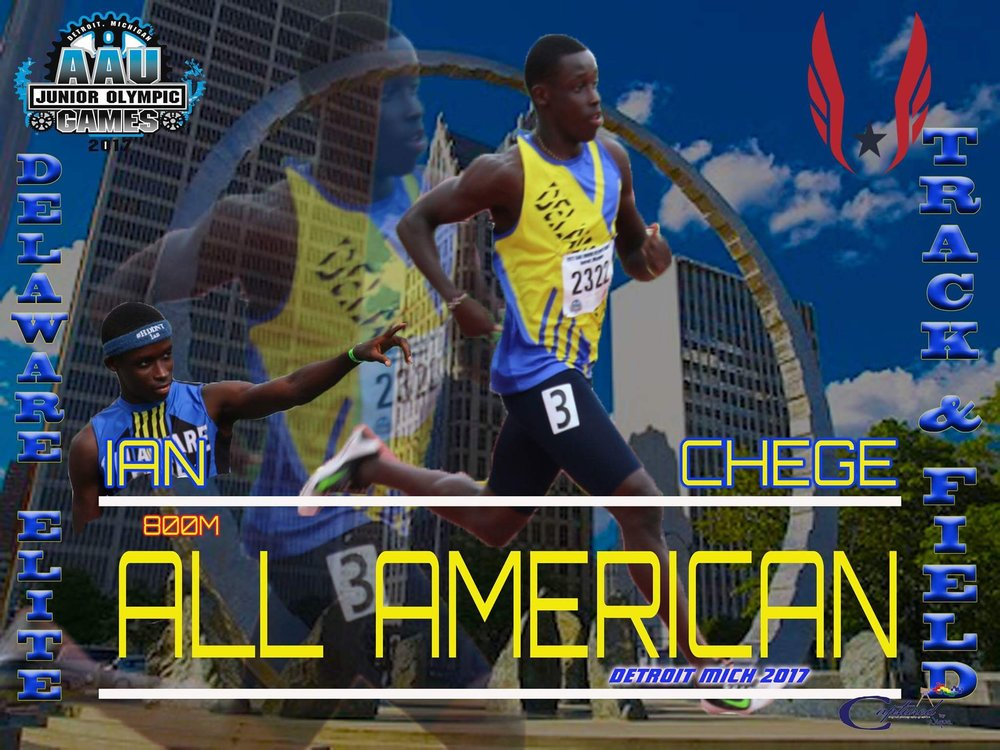 Ian Chege - Gold Medalist at ESPN Club Championships - 800m time 1:53