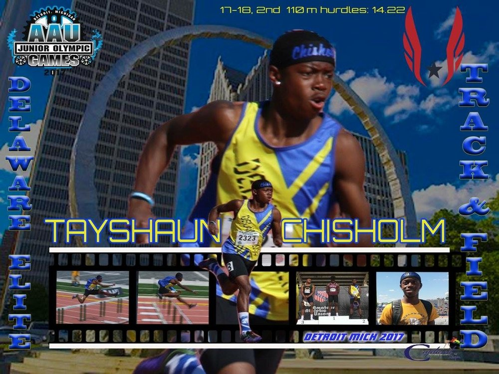 Tayshaun Chisholm - Silver medalist in the 110 hurdles Jr. Olympics - 17/18 age group