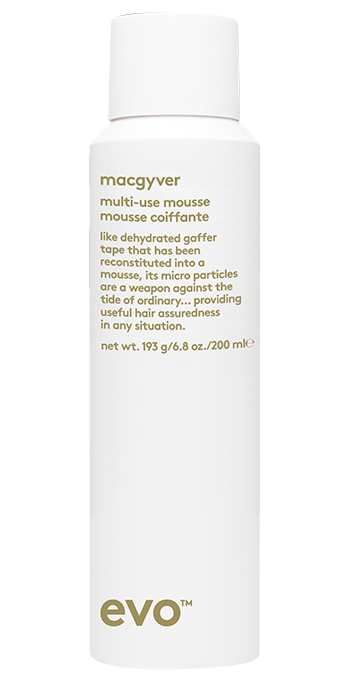 EVO macgyver multi-use mousse hair styling product