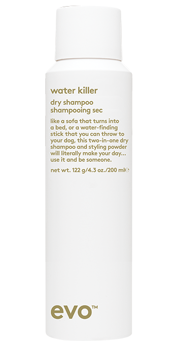 EVO Water killer dry shampoo hair styling product