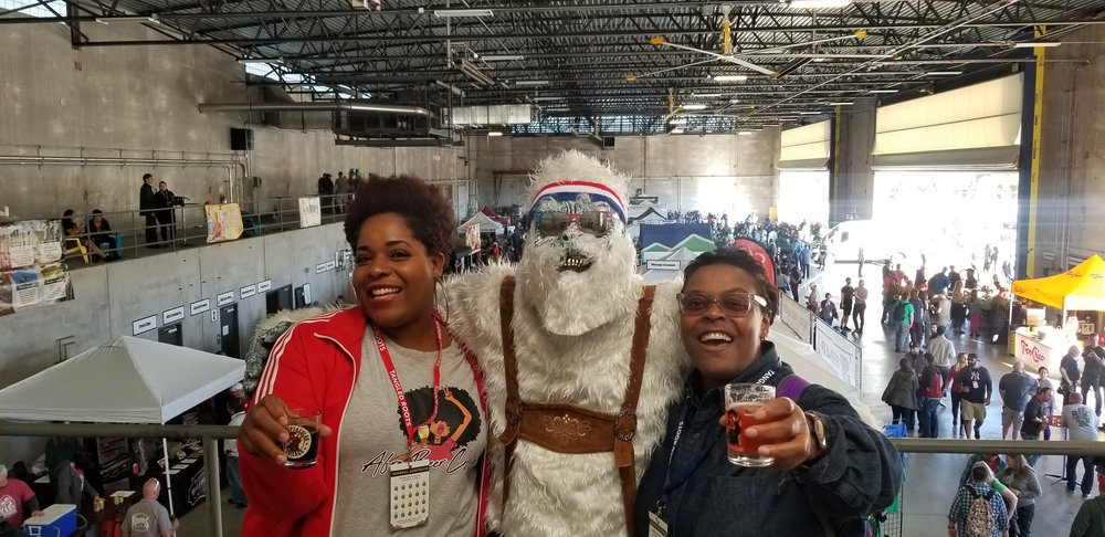 Ran into the Fest Yeti and one of my IG friends  blackandbrewchicago