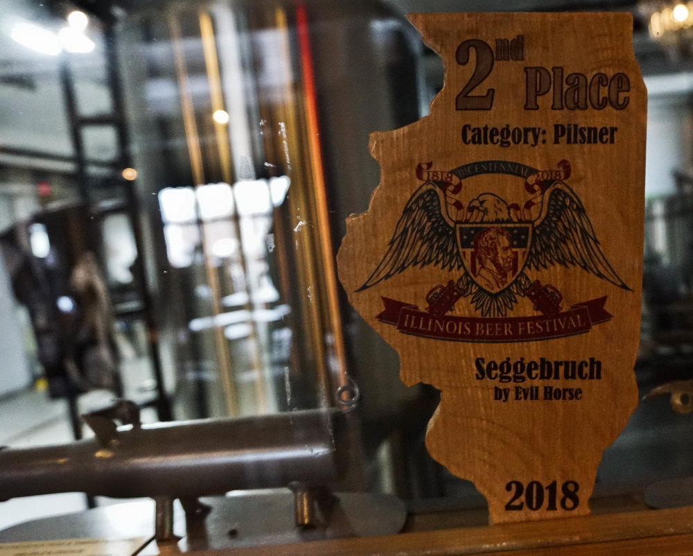 German Pilsner named after the building they occupy, which originally housed a grain, flour and feed business.