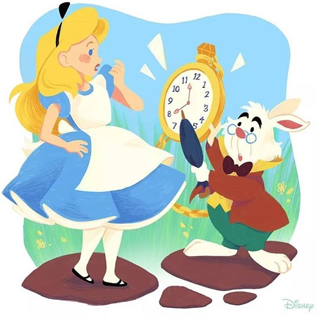 Right on time! ⏰🐰💗 On this day in 1951, Disney's Alice in Wonderland made it's whimsical debut in theaters! (Credits to @disney, @disneyalice ) #Disney #AliceinWonderland #AlicethroughtheLookingGlass . . .  #Repost @throughthelookingglass_2016 with @get_repost ・・・