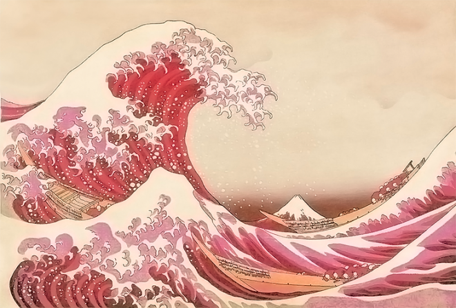 The Great Wave off Kanagawa, Hokusai