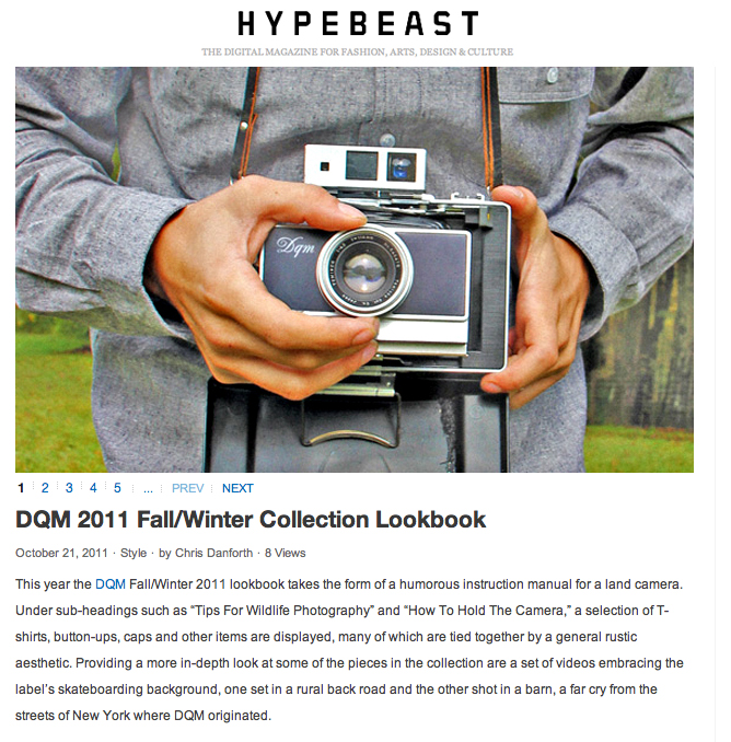 Hypebeast | DQM Fall 2011 Review