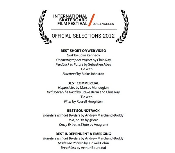 ISFF 2012 | Hoppssicle Best Commercial Award