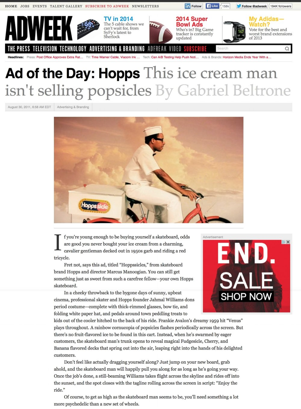 Adweek | Ad of the Day Hoppssicles
