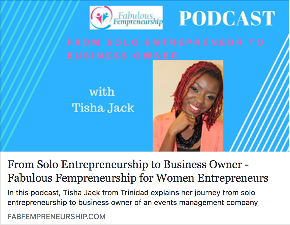 From Solopreneur to Business Owner - Tisha shares her journey on how she adjusted with a growing business whilst balancing life in the background...Click to listen to the podcast and please, leave a comment with your thoughts! :-)
