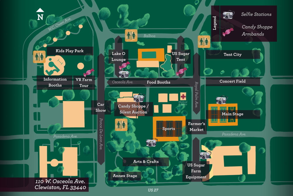 2019 Clewiston Sugar Festival Map.png