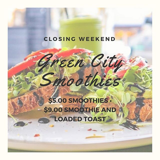 🥑 S A T U R D A Y  and  S U N D A Y 🍓  I want to thank each of you for the amazing amount of support and love in this next chapter. All weekend long we will be doing $5.00 • s m o o t h i e s •  and $9.00 slice of any • l o a d e d  t o a s t • and smoothie combo. We will be open at 9am until SOLD OUT both days. Hope to see ya at the cart! All my love, Taylor. GCS: eat real food, spread real love, pet all the animals 🍌 💕 🐷 • • • • • #greencitysmoothies #eatrealfood #portland #oregon #pdx #pxdfoodcarts #pdxvegans #portlandvegans #pnw #pnwvegans #pdxeats #portlandfoodie #portlandfoodcarts #portlandfood #veganism #vegan #vegansofig #plantbased #govegan  #savetheanimals #savetheplanet #vegan #stumptownvegans #portlandoregon #healthy #smoothies #bestfoodportland #eaterpdx