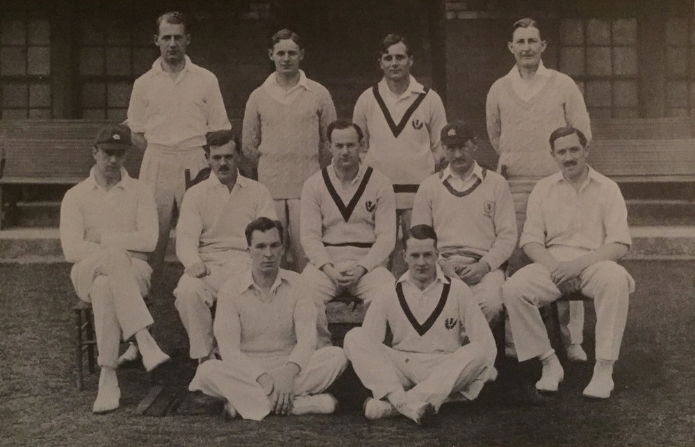 Academical XI, 1938, with seven selected to play for Scotland.