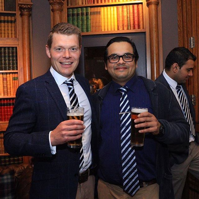 Club Dinner #clubtie #librarybar #privatedining #blazer #champagne #beer #edinburgh #cricket #stockbridge