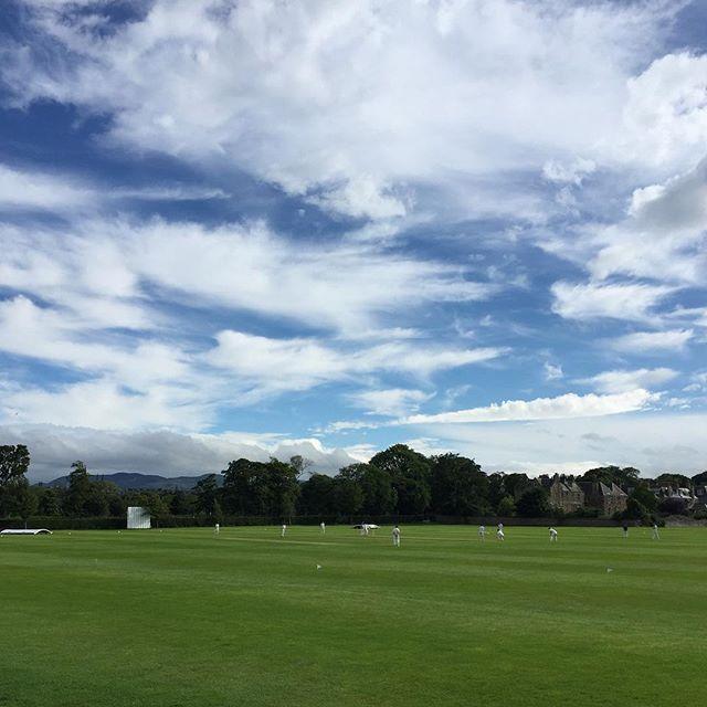 The sky's the limit.  #cricket #throwbacksummer #edinburgh #scotland #scottishsummer
