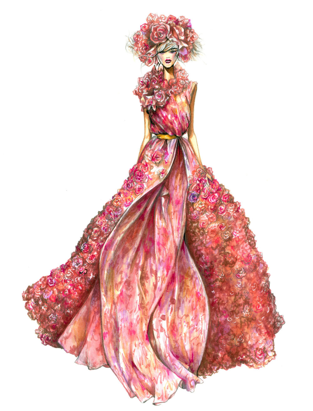 FASHION ILLUSTRATION GOWNS NANCY RIEGELMAN