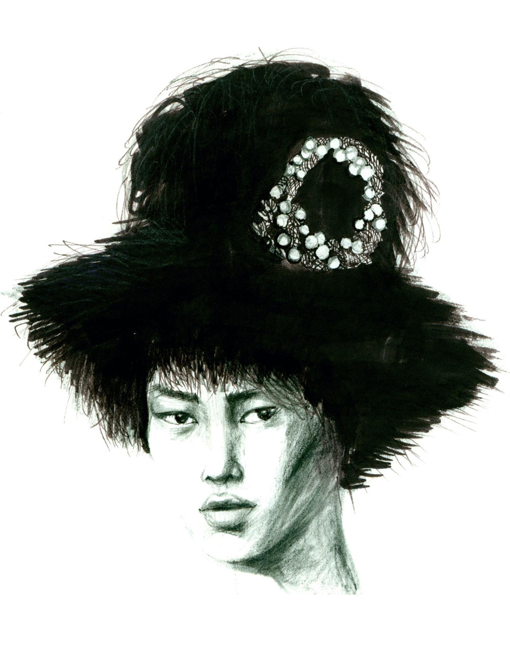 FASHION ILLUSTRATION FACES NANCY RIEGELMAN