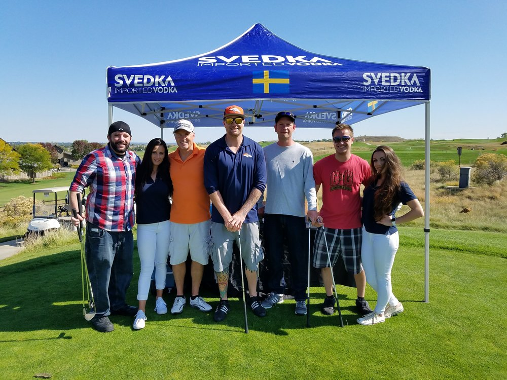 Our players and sponsors are key to our legislative success  - Chris Potter, our Board Secretary and Owner of Crimson & Gold here with his team and the Svedka Rep.