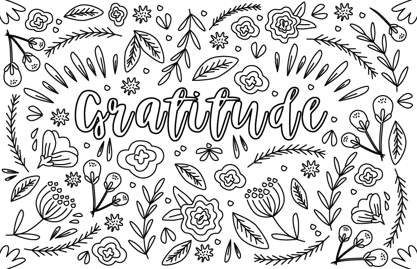 gratitude coloring pages Coloring Your Way to Resilience — Center for Inspiration gratitude coloring pages